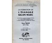 Szczegóły książki LA FORMAION L'EVANGILE SELON MARC
