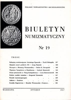 BIULETYN NUMIZMATYCZNY NR 19