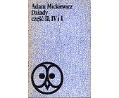 Szczegóły książki DZIADY CZĘŚĆ II, IV I I