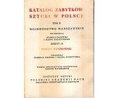 Szczegóły książki KATALOG ZABYTKÓW SZTUKI W POLSCE - POWIAT WYSZKOWSKI