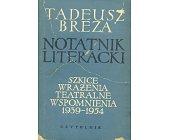 Szczegóły książki NOTATNIK LITERACKI