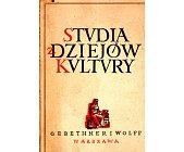 Szczegóły książki STUDIA Z DZIEJÓW KULTURY POLSKIEJ
