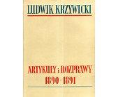 Szczegóły książki ARTYKUŁY I ROZPRAWY 1890 - 1891