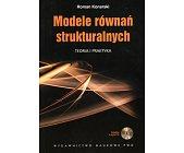 Szczegóły książki MODELE RÓWNAŃ STRUKTURALNYCH