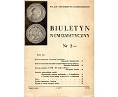 Szczegóły książki BIULETYN NUMIZMATYCZNY NR 2 (50)