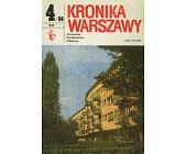 Szczegóły książki KRONIKA WARSZAWY 4/56 - 1983