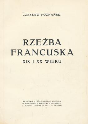 RZEŹBA FRANCUSKA XIX I XX WIEKU