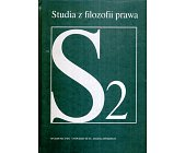 Szczegóły książki STUDIA Z FILOZOFII PRAWA - TOM 2