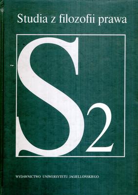 STUDIA Z FILOZOFII PRAWA - TOM 2