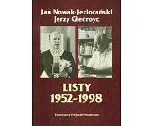 Szczegóły książki LISTY 1952-1998