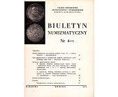 Szczegóły książki BIULETYN NUMIZMATYCZNY NR 4 (102)