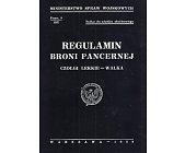 Szczegóły książki REGULAMIN BRONI PANCERNEJ : CZOŁGI LEKKIE - WALKA
