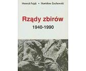 Szczegóły książki RZĄDY ZBIRÓW 1940-1990