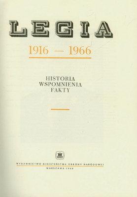 LEGIA 1916 - 1966