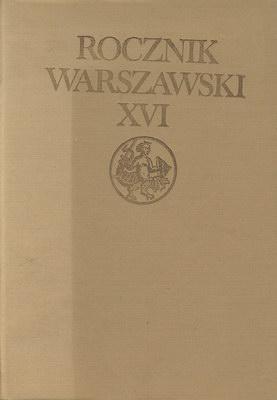 ROCZNIK WARSZAWSKI XVI