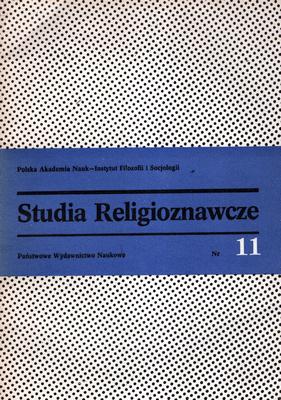 STUDIA RELIGIOZNAWCZE - TOM 11
