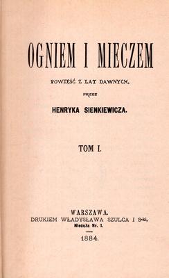 TRYLOGIA - OGNIEM I MIECZEM, POTOP, PAN WOŁODYJOWSKI - 11 TOMÓW