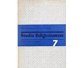 Szczegóły książki STUDIA RELIGIOZNAWCZE - TOM 7