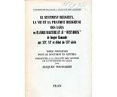 Szczegóły książki LE SENTIMENT RELIGIEUX, LA VIE ET LA PRATIQUE RELIGIEUSE DES LAICS