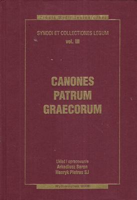 CANONES PATRUM GRAECORUM