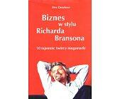 Szczegóły książki BIZNES W STYLU RICHARDA BRANSONA