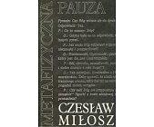 Szczegóły książki METAFIZYCZNA PAUZA