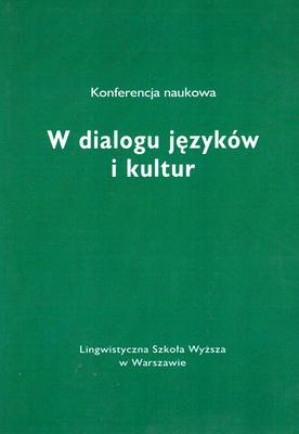 W DIALOGU JĘZYKÓW I KULTUR