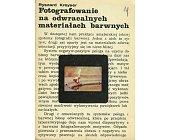 Szczegóły książki FOTOGRAFOWANIE NA ODWRACALNYCH MATERIAŁACH BARWNYCH