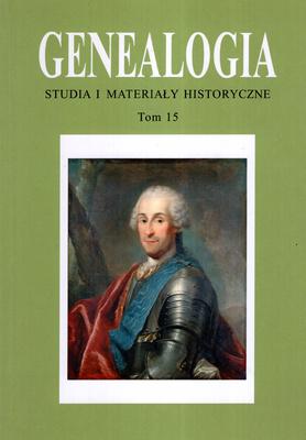 GENEALOGIA - TOM 15