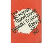Szczegóły książki ROZWIĄZANE ZAGADKI TRZECIEJ RZESZY 1933-1941