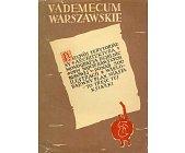 Szczegóły książki VADEMECUM WARSZAWSKIE