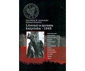 Szczegóły książki LITERACI A SPRAWA KATYŃSKA - 1945