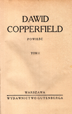 DAWID COPPERFIELD - 2 TOMY