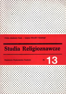 STUDIA RELIGIOZNAWCZE - TOM 13
