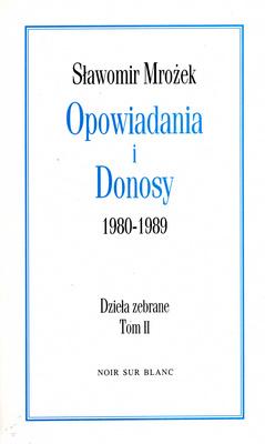 OPOWIADANIA I DONOSY 1980-1989