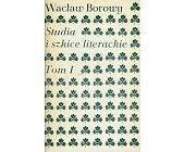 Szczegóły książki STUDIA I SZKICE LITERACKIE - 2 TOMY