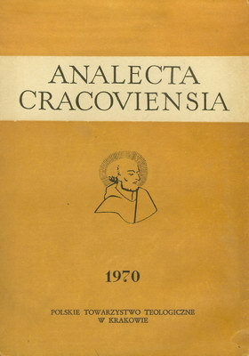 ANALECTA CRACOVIENSIA 1970 - TOM 2