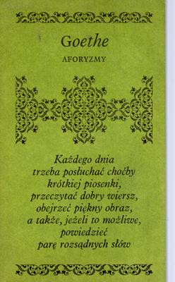 Znalezione obrazy dla zapytania Johann Wolfgang Goethe - Aforyzmy