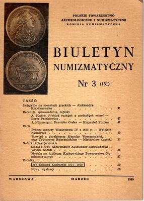 BIULETYN NUMIZMATYCZNY NR 3 (151)
