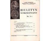 Szczegóły książki BIULETYN NUMIZMATYCZNY NR 3 (111)
