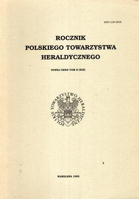 ROCZNIK POLSKIEGO TOWARZYSTWA HERALDYCZNEGO - TOM I