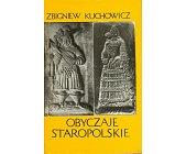 Szczegóły książki OBYCZAJE STAROPOLSKIE