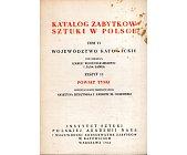 Szczegóły książki KATALOG ZABYTKÓW SZTUKI W POLSCE - TOM 6, ZESZYT 13