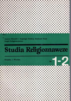 STUDIA RELIGIOZNAWCZE - TOM 1-2