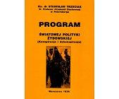 Szczegóły książki PROGRAM ŚWIATOWEJ POLITYKI ŻYDOWSKIEJ