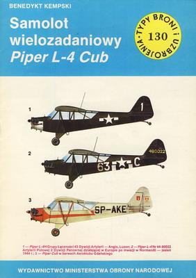 SAMOLOT WIELOZADANIOWY PIPER L-4 CUB (TYPY BRONI I UZBROJENIA - ZESZYT 130)