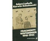 Szczegóły książki FRAGMENTY WSPOMNIEŃ 1910 - 1945