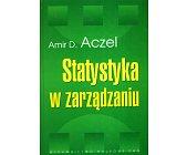 Szczegóły książki STATYSTYKA W ZARZĄDZANIU