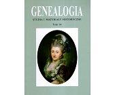 Szczegóły książki GENEALOGIA - TOM 14