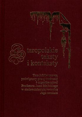 STAROPOLSKIE TEKSTY I KONTEKSTY - TOM 8